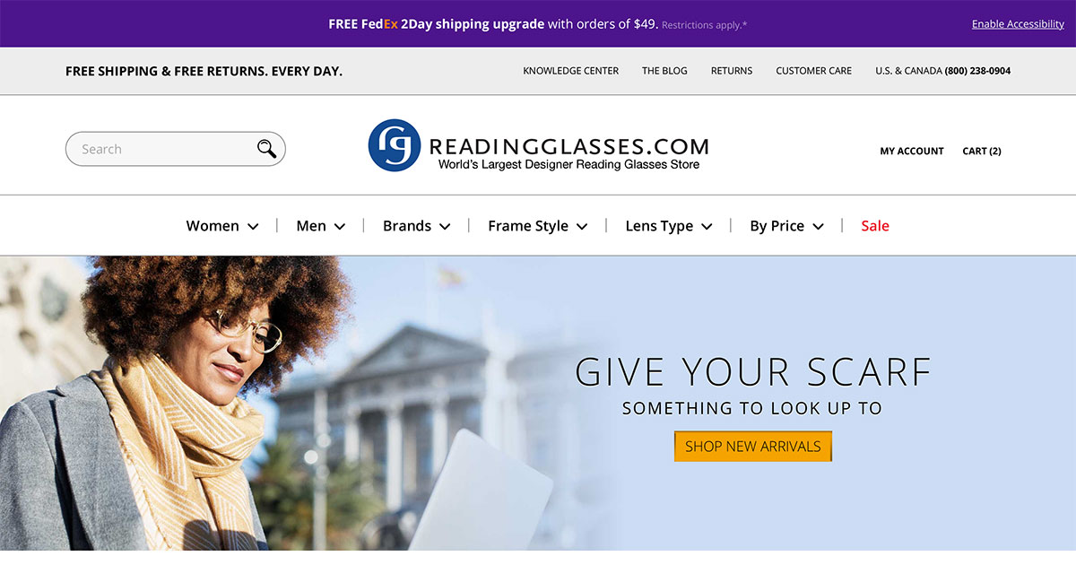 643175059e The World s Largest Designer Reading Glasses Store - ReadingGlasses.com