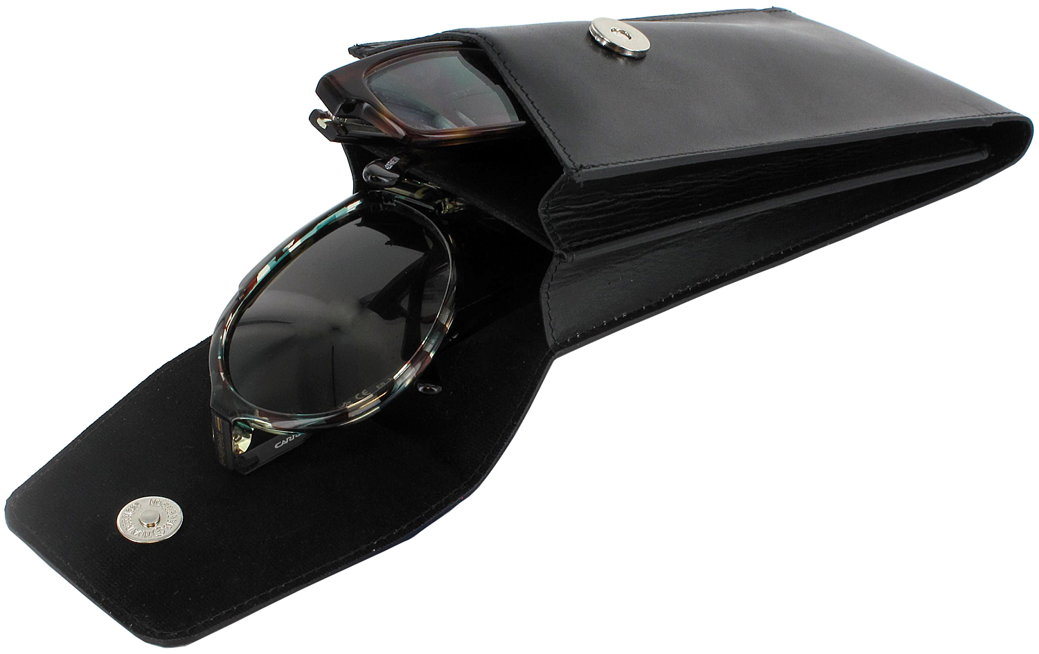 ray ban reading glasses case  leather_duo_black_20d