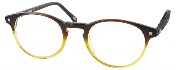 a5d30f75e7 Brown Fossil Guss Bifocal - ReadingGlasses.com