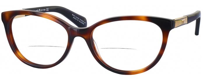 ccd40c278c87e Dark Havana Kate Spade Kassia Bifocal - ReadingGlasses.com