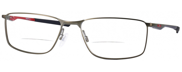 d60cf94c620 Satin Brushed Chrome Oakley OX 3217 Bifocal - ReadingGlasses.com