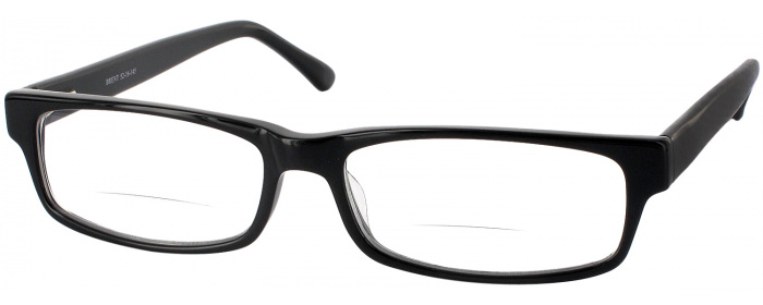 caaa5b53a47a Glossy Black Brent Bifocal Designer Reading Glasses by ...