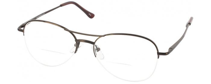 be77afb538 Brown Pilot Flex Bifocal Designer Reading Glasses by ReadingGlasses ...