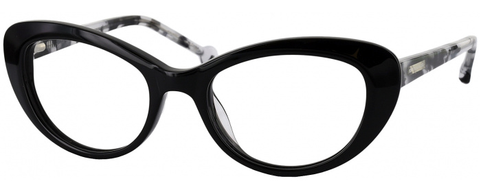 Black Jonathan Adler 302 Single Vision Full Frame - ReadingGlasses.com