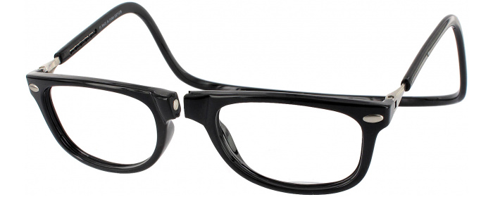 7698439afd Black Clic Ashbury No Line Bifocal Magnetic Reading Glasses ...