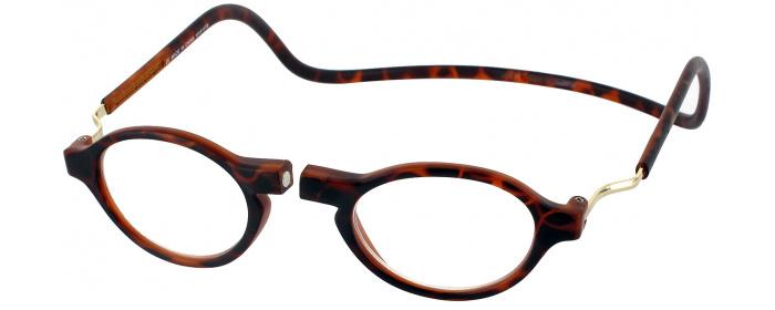 0895a2968fb Tortoise Clic Classic Magnetic Reading Glasses - ReadingGlasses.com