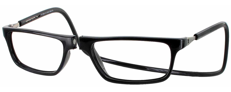 Clic Half Frame Black Reading Glasses : Clic Executive Magnetic Reading Glasses - ReadingGlasses.com