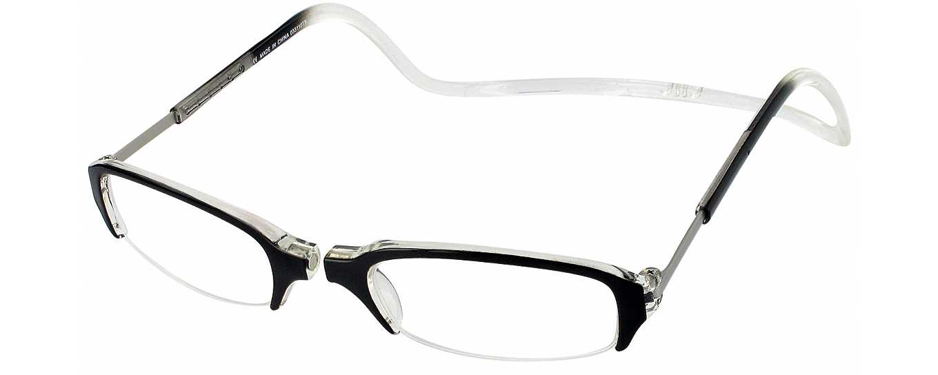 Rimless Eyeglasses With Magnetic Sunglasses : Clic Semi-Rimless Magnetic Reading Glasses ...
