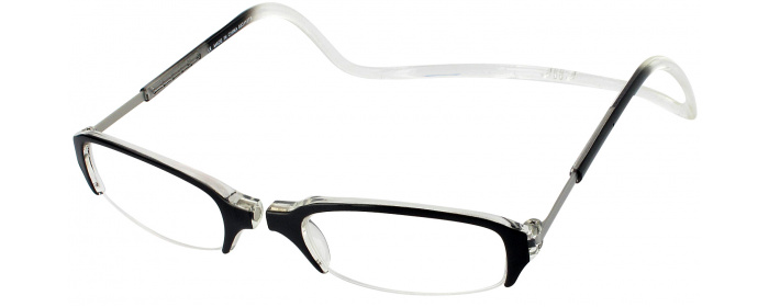 634d0cc2ef30 Black   Crystal Clic Semi-Rimless Magnetic Reading Glasses ...