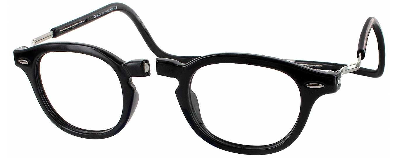 Clic Half Frame Black Reading Glasses : Clic Vintage XXL Single Vision Full Frame - ReadingGlasses.com