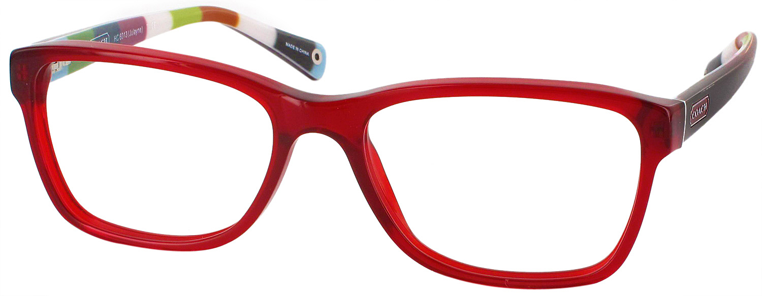 Coach Eyeglass Frames Red : Coach HC 6013 Single Vision Full Frame - ReadingGlasses.com