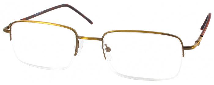 53b710bbdc Gold Men s Semi-Rimless Wide Frames - ReadingGlasses.com