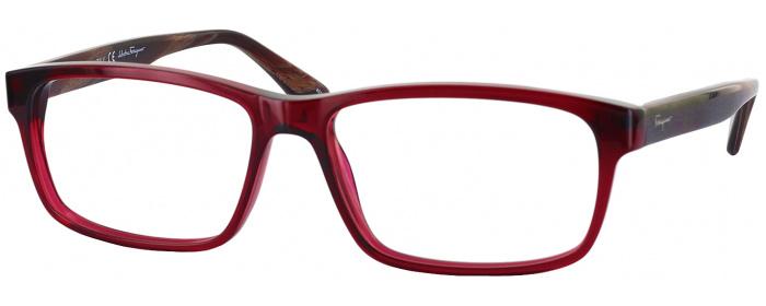 Crystal Red Ferragamo 2669 Single Vision Full Frame - ReadingGlasses.com