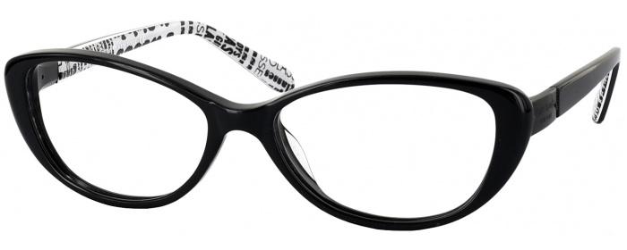 Black Kate Spade Finley Single Vision Full Frame - ReadingGlasses.com