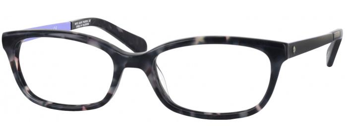 f0ec498d8aa Gray Tortoise Kate Spade Jazmine Single Vision Full Frame ...