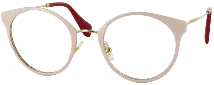 ce09aad0b7 Pale Gold Miu Miu 51PV Single Vision Full Frame - ReadingGlasses.com