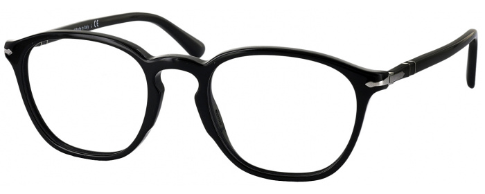 54b7ac0a63 Black Persol 3178V Single Vision Full Frame - ReadingGlasses.com