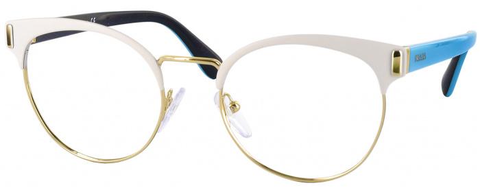 Matte White Prada 63TV Single Vision Full Frame - ReadingGlasses.com