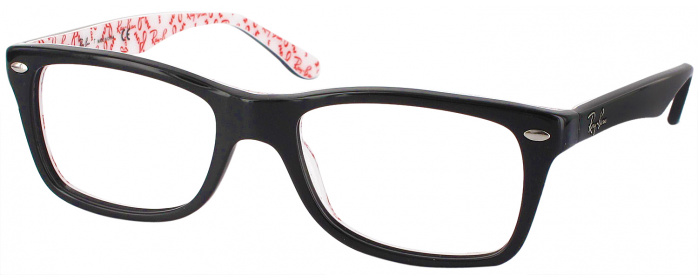e9fa75eb1491 Top Black Ray-Ban 5228 Single Vision Full Frame - ReadingGlasses.com