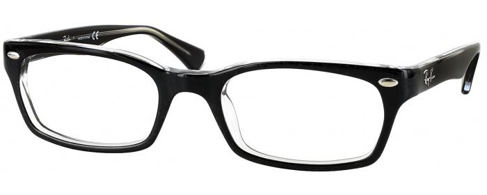 e91ce848eb Black on Transparent Ray-Ban 5150 CL - ReadingGlasses.com