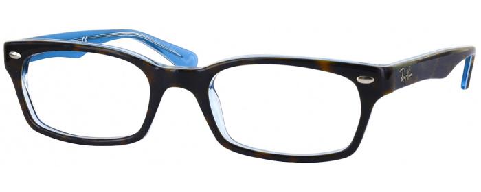 eec79c34b0 Havana Transparent Azure Ray-Ban 5150 Single Vision Full Frame ...