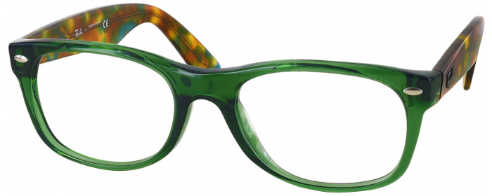 c3a6a269467a0 Opal Green Ray-Ban 5184 Single Vision Full Frame - ReadingGlasses.com