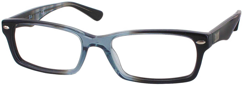 Best Wide Frame Glasses : Ray-Ban 5206L Single Vision Full Frame - ReadingGlasses.com