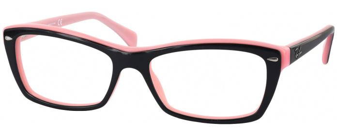 a5ba663d56 Black On Pink Ray-Ban 5255 Progressive No Line Bifocal - ReadingGlasses.com