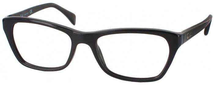 5a3625d6475 Shiny Black Ray-Ban 5298 Petite Progessive No Line Bifocal ...