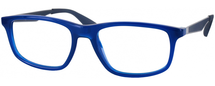3537ae745e Shiny Blue Ray-Ban 7055 Single Vision Full Frame - ReadingGlasses.com