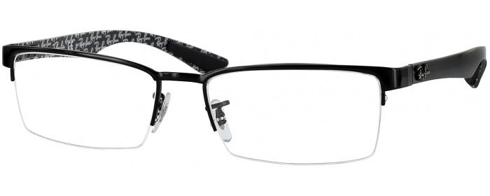bf45cd96dc Shiny Black Ray-Ban 8412 Computer Style Progressive - ReadingGlasses.com