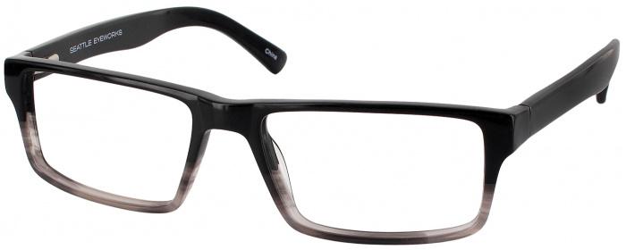 73d1b0434bf Black Quartz Seattle Eyeworks 927 Progressive No Line Bifocal ...