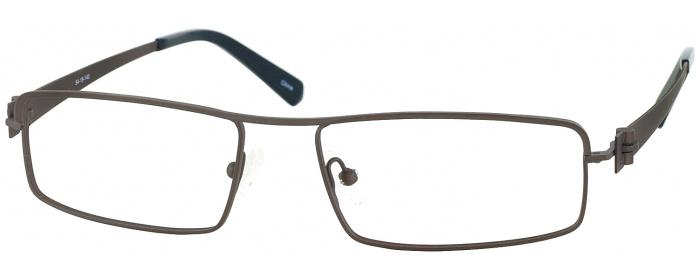 07d5ab61293 Matte Brown LZ-42 Titanium Single Vision Full Frame - ReadingGlasses.com