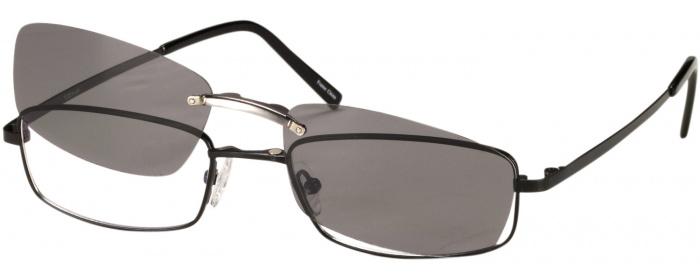 b51c93564c Matte Black Titanium VII No Line Bifocal with Polarized Clip ...
