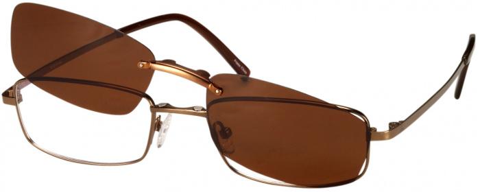 9a1395b924 Matte Brown Titanium VII No Line Bifocal with Polarized Clip ...