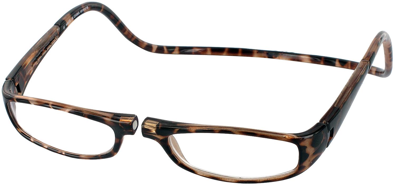 Clic Half Frame Black Reading Glasses : Clic Euro Magnetic Reading Glasses - ReadingGlasses.com