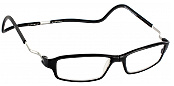 Clic Half Frame Black Reading Glasses : Clic One Aluminum - ReadingGlasses.com