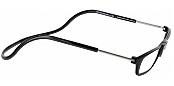 Clic Half Frame Black Reading Glasses : Clic Reader Long Magnetic Reading Glasses - ReadingGlasses.com