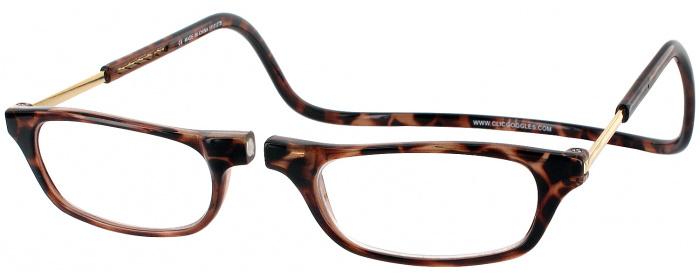 5c96c0de8c Tortoise Clic Reader Long Magnetic Reading Glasses - ReadingGlasses.com