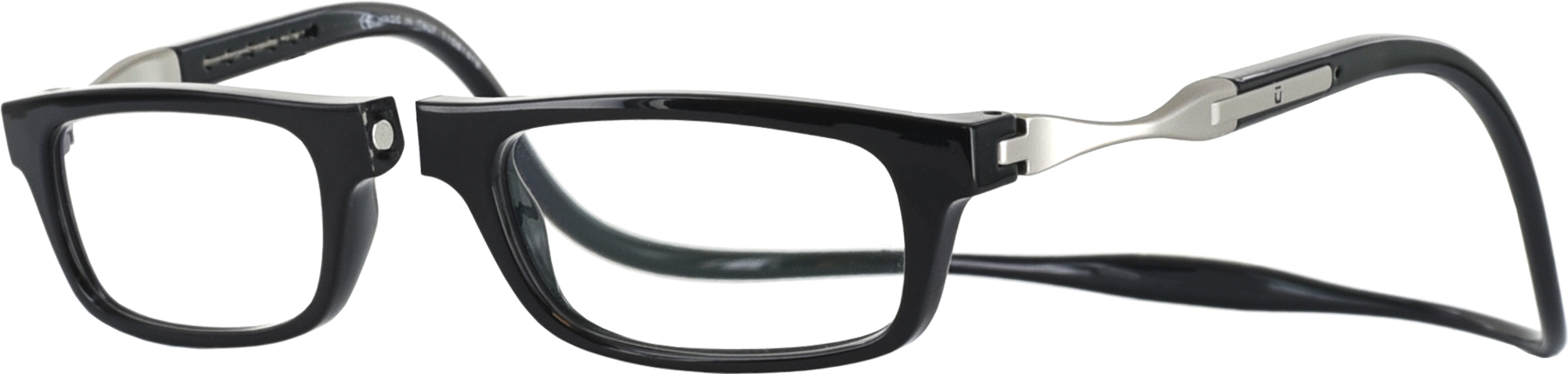 Clic Half Frame Black Reading Glasses : Vunetic by CliC Single Vision Half Frame - ReadingGlasses.com