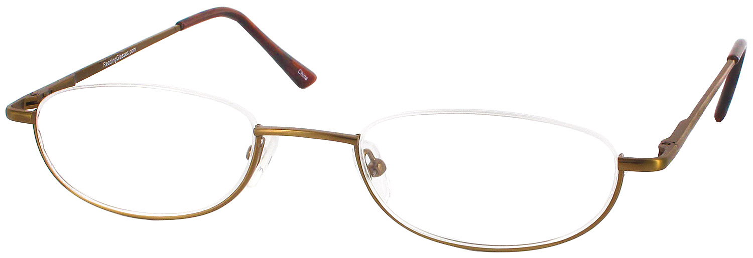 Gold Frame Reading Glasses : Clearview Half Frame Designer Reading Glasses by ...