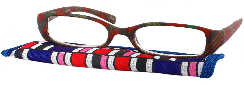 color me plaid single vision half frame readingglasses