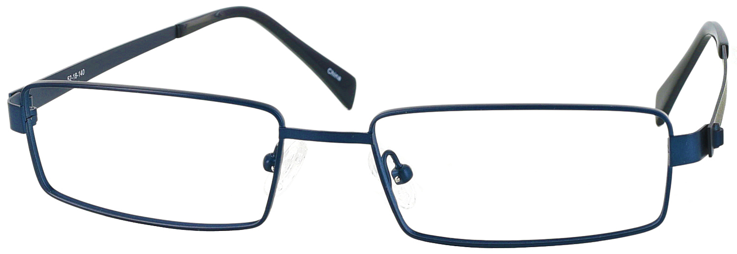 LZ-45 Titanium Single Vision Half Frame - ReadingGlasses.com