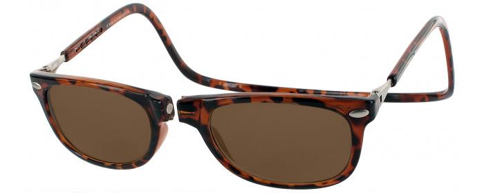 98f569c3bdf Tortoise Clic Ashbury No Line Reading Sunglasses - ReadingGlasses.com