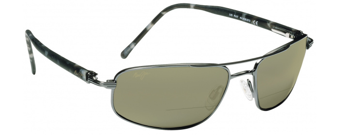 523d735870b Gunmetal   HT Lens Maui Jim Kahuna 162 Bifocal Reading Sunglasses ...