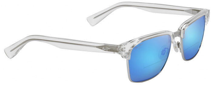 b5cdf9b2d0 Crystal Blue Hawaii Maui Jim Kawika 257 Bifocal Reading Sunglasses ...