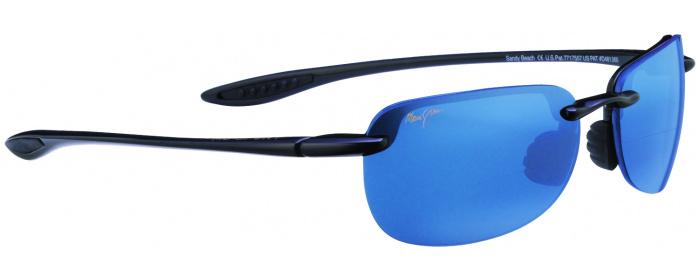 fad10bd138d Gloss Black blue Hawaii Lens Maui Jim Sandy Beach 408 Bifocal ...