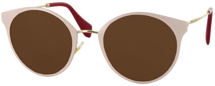 f8055ead50 Pale Gold Miu Miu 51PV Progressive No Line Reading Sunglasses ...