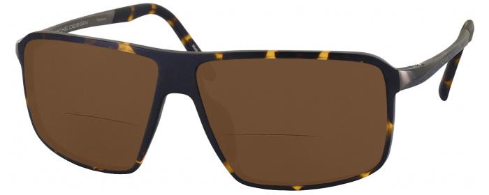 ddca7bcf7f090 Havana Porsche 8650 Titanium Bifocal Reading Sunglasses with ...