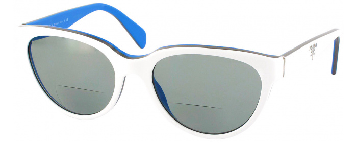 82684787803 Top White   Blue Prada 10PV Bifocal Reading Sunglasses ...